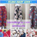 Pusat Grosir Baju Murah Solo Klewer 2018 Distributor Celana Kulot Lenin Wanita Dewasa Murah 45Ribuan