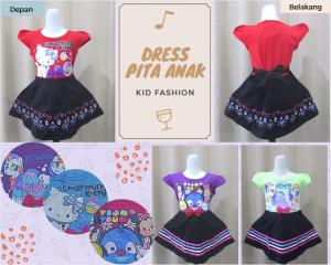 Grosir Dress Pita Anak Perempuan Karakter Murah Solo
