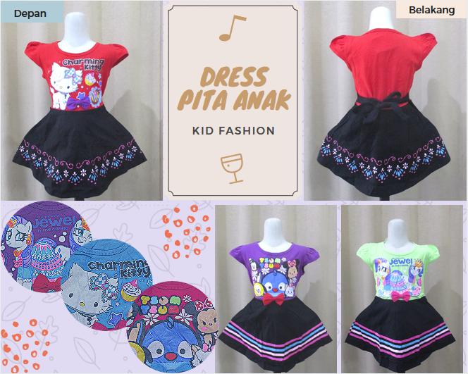 Pusat Grosir Baju Murah Solo Klewer 2019 Grosir Dress Pita Anak Perempuan Karakter Murah di Solo 21Ribu