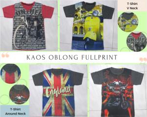 Konveksi Kaos Oblong Fullprint Anak Laki Laki Murah di Solo