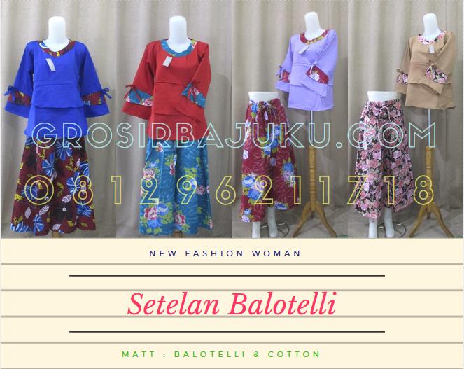 Pusat Grosir Baju Murah Solo Klewer 2019 Produsen Setelan Balotelli Wanita Dewasa Murah di Solo 60Ribu
