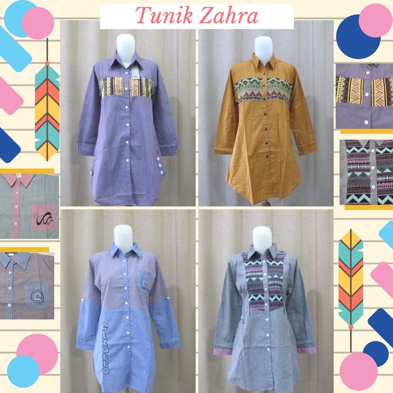 Pusat Grosir Baju Murah Solo Klewer 2021 Supplier Tunik Zahra Wanita Dewasa Termurah Solo 47Ribu