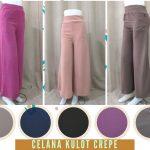 Pusat Grosir Baju Murah Solo Klewer 2018 Supplier Celana Kulot Crepe Wanita Dewasa Murah di Solo 35Ribu