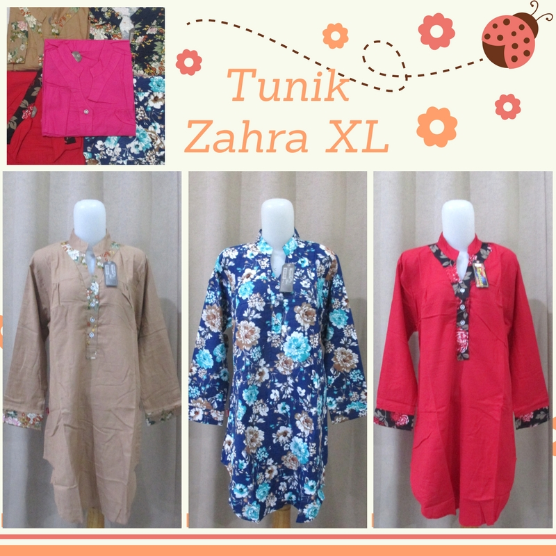 Pusat Grosir Baju Murah Solo Klewer 2021 Produsen Baju Tunik Zahra XL Wanita Dewasa Murah di Solo 50Ribu