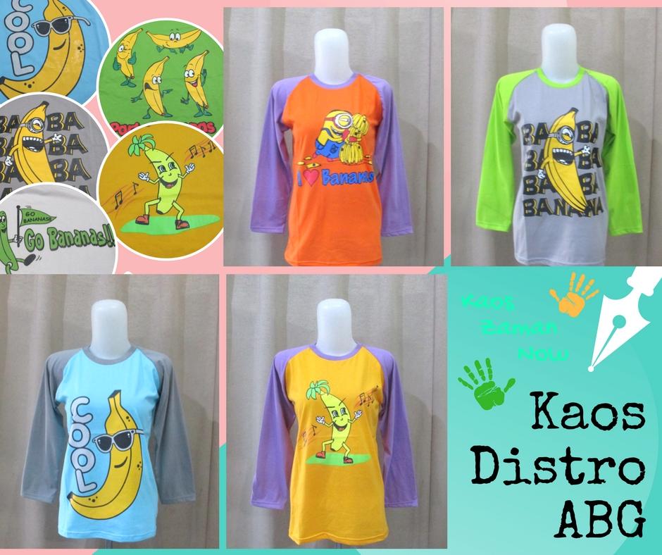 Pusat Grosir Baju Murah Solo Klewer 2019 Pabrik Kaos Distro ABG Karakter Banana Murah di Solo 24Ribu