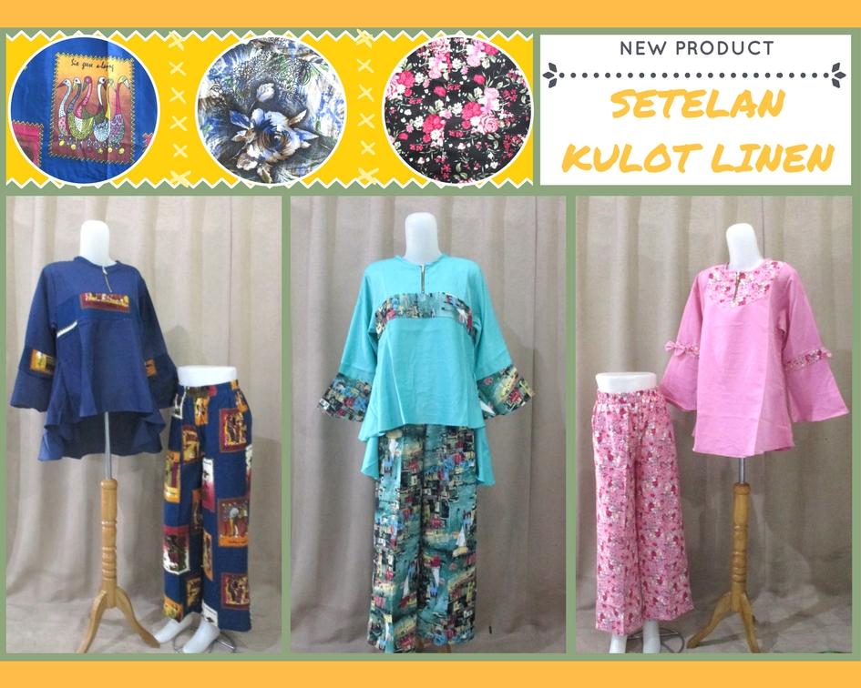 Pusat Grosir Baju Murah Solo Klewer 2019 Distributor Setelan Kulot Linen Wanita Dewasa Murah di Solo 90Ribu