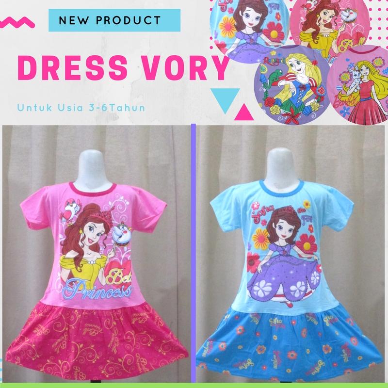 Pusat Grosir Baju Murah Solo Klewer 2021 Agen Dress Vory Karakter Anak Perempuan Termurah di Solo 21Ribu