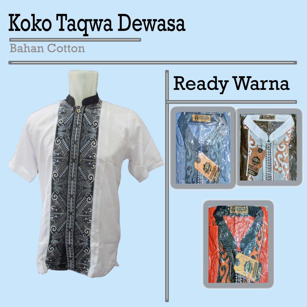 Pusat Grosir Baju Murah Solo Klewer 2021 Distributor Koko Taqwa Dewasa Murah di Solo 45ribuan