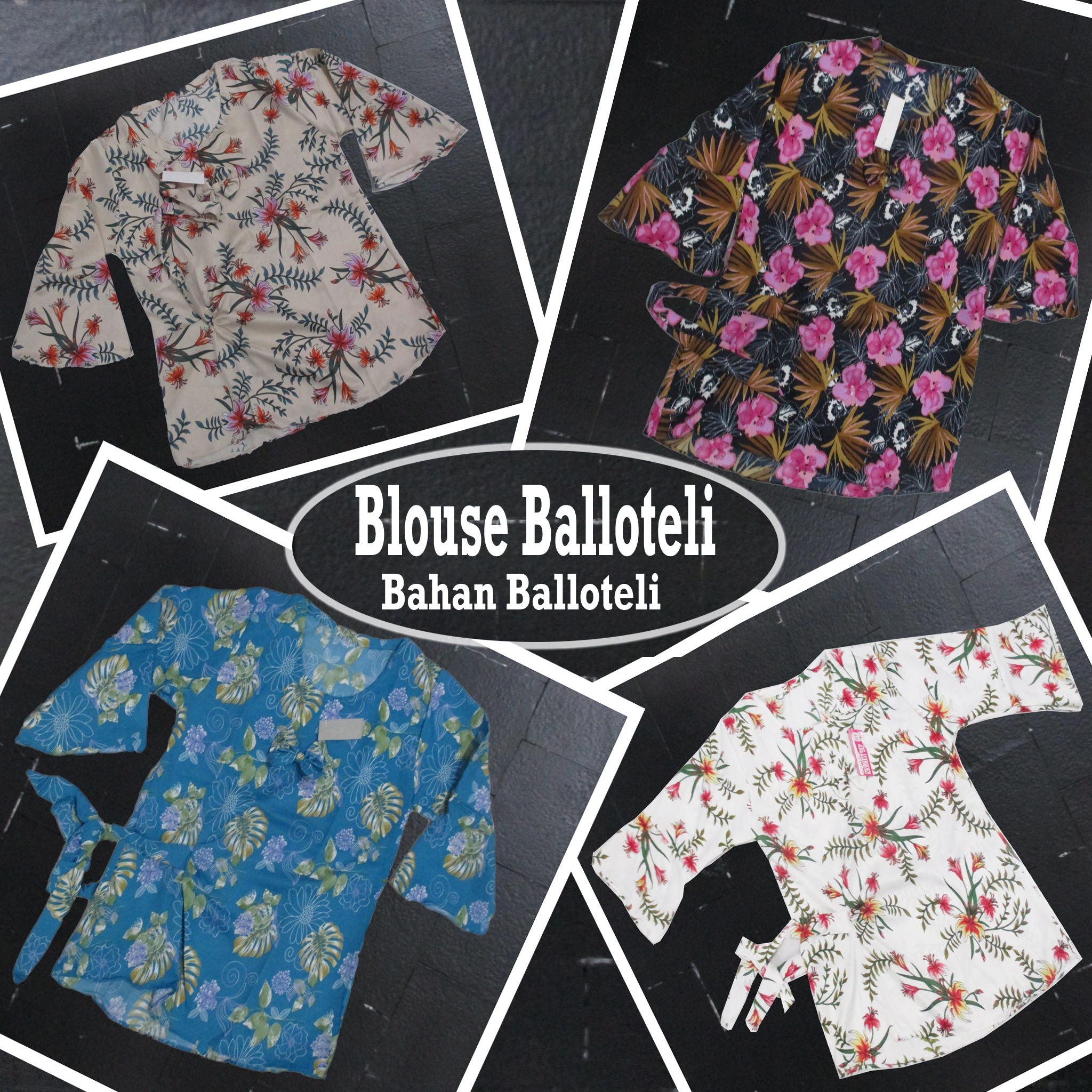 Pusat Grosir Baju Murah Solo Klewer 2019 Grosir Blouse Balloteli Dewasa Murah di Solo 28Ribuan
