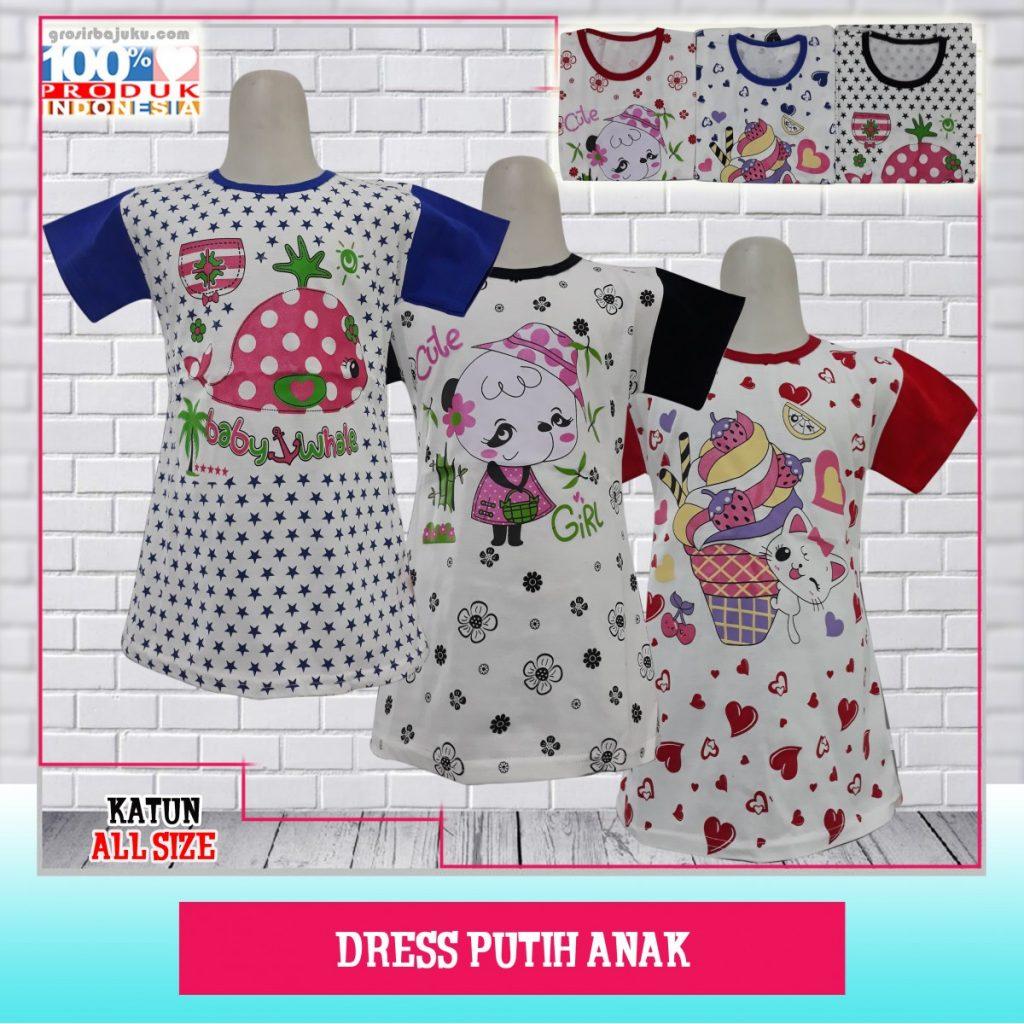 Pusat Grosir Baju Murah Solo Klewer 2019 Grosir Dress Putih Anak Murah di Solo