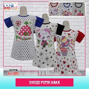 Pusat Grosir Baju Murah Solo Klewer 2021 Dress Putih Anak