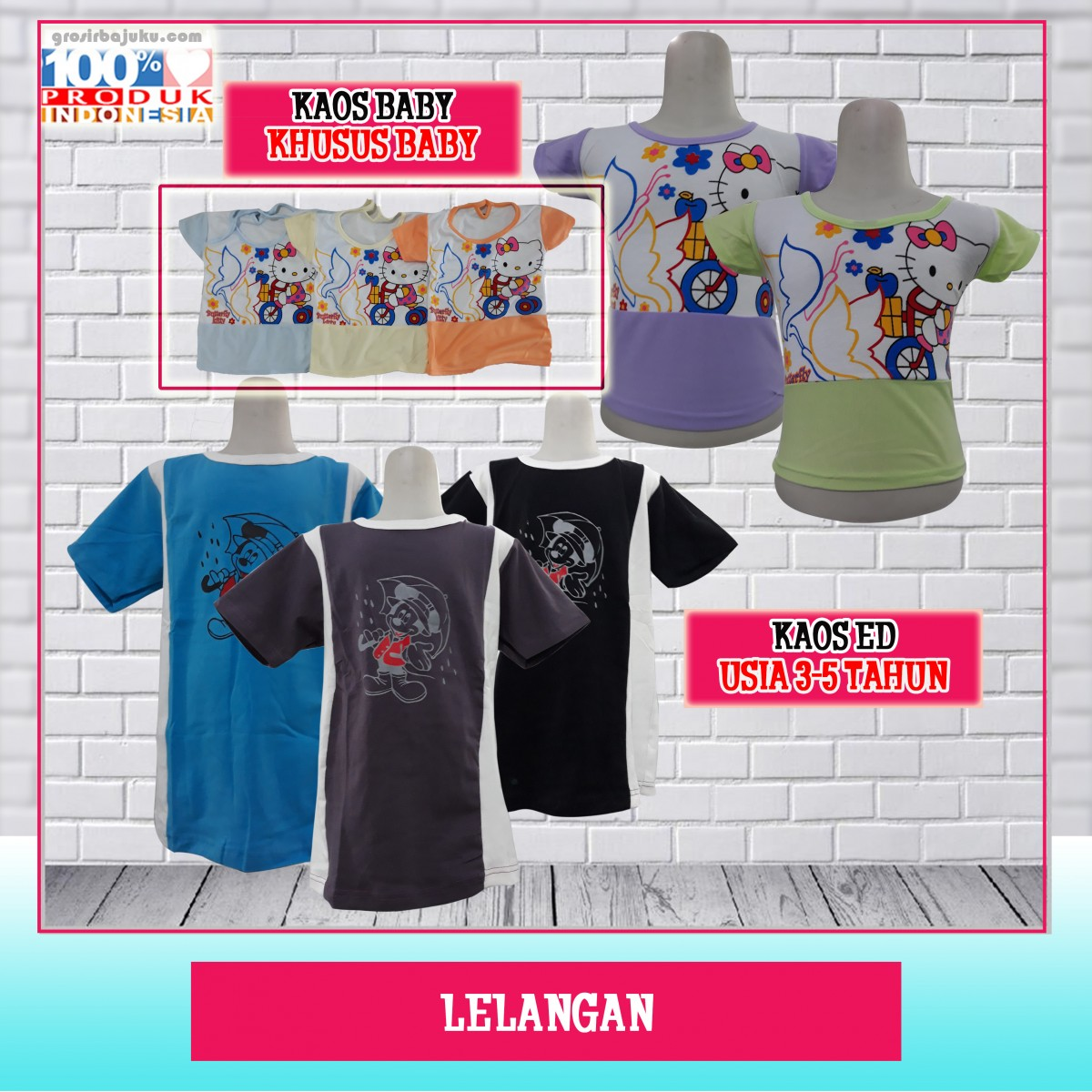 Pusat Grosir Baju Murah Solo Klewer 2021 Grosir Kaos ED & Kaos Baby Murah di Solo