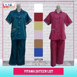Pusat Grosir Baju Murah Solo Klewer 2021 Piyama Sateen List