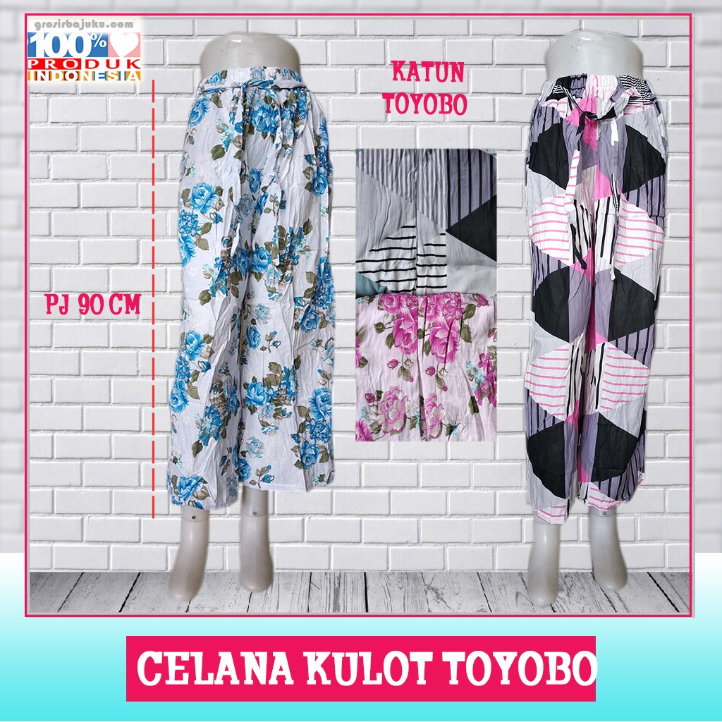 Pusat Grosir Baju Murah Solo Klewer 2021 Supplier Celana Kulot Toyobo Murah di Solo