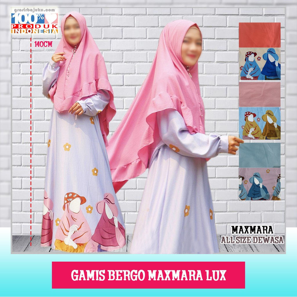Pusat Grosir Baju Murah Solo Klewer 2019 Supplier Gamis Bergo Maxmara Lux Murah di Solo