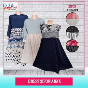 Pusat Grosir Baju Murah Solo Klewer 2021 Dress Sifon Anak