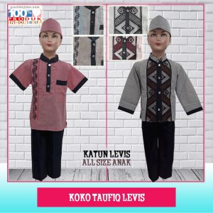 Pusat Grosir Baju Murah Solo Klewer 2021 Koko Taufiq Levis 1-6