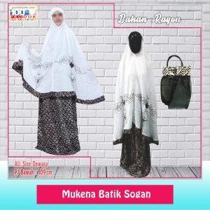 Pusat Grosir Baju Murah Solo Klewer 2021 Mukena Batik Sogan