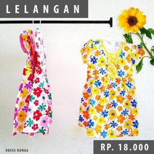 Pusat Grosir Baju Murah Solo Klewer 2021 Dress Bunga Anak