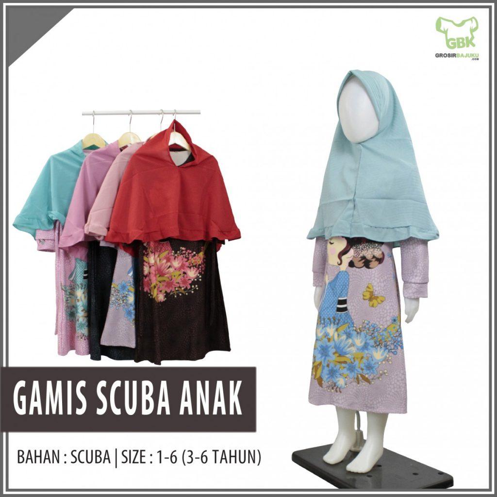 Pusat Grosir Baju Murah Solo Klewer 2019 Supplier Gamis Scuba Anak Murah di Solo