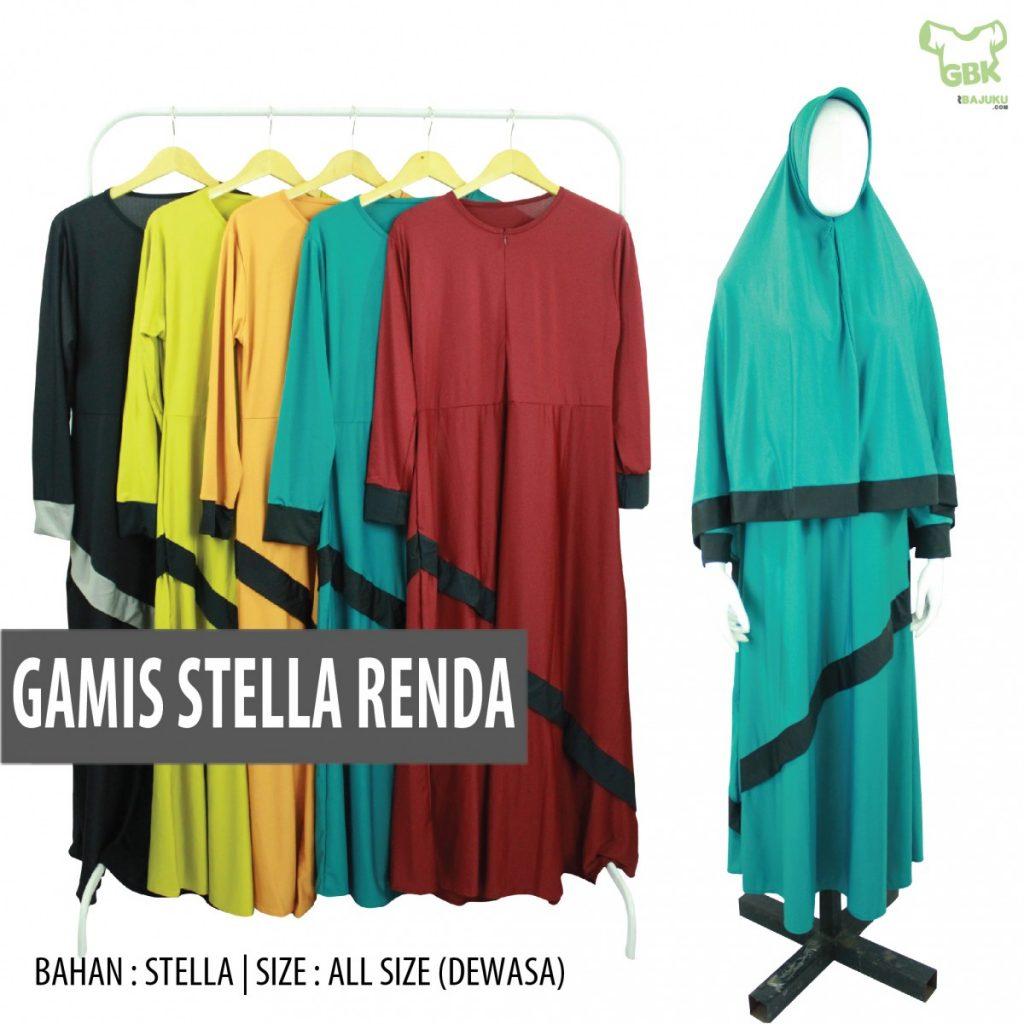 Pusat Grosir Baju Murah Solo Klewer 2021 Supplier Gamis Stella Renda Murah di Solo