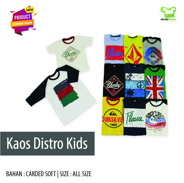 Pusat Grosir Baju Murah Solo Klewer 2019 Supplier Kaos Distro Kids Murah di Solo
