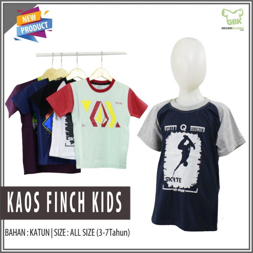 Pusat Grosir Baju Murah Solo Klewer 2019 Distributor Kaos Finch Kids Murah di Solo