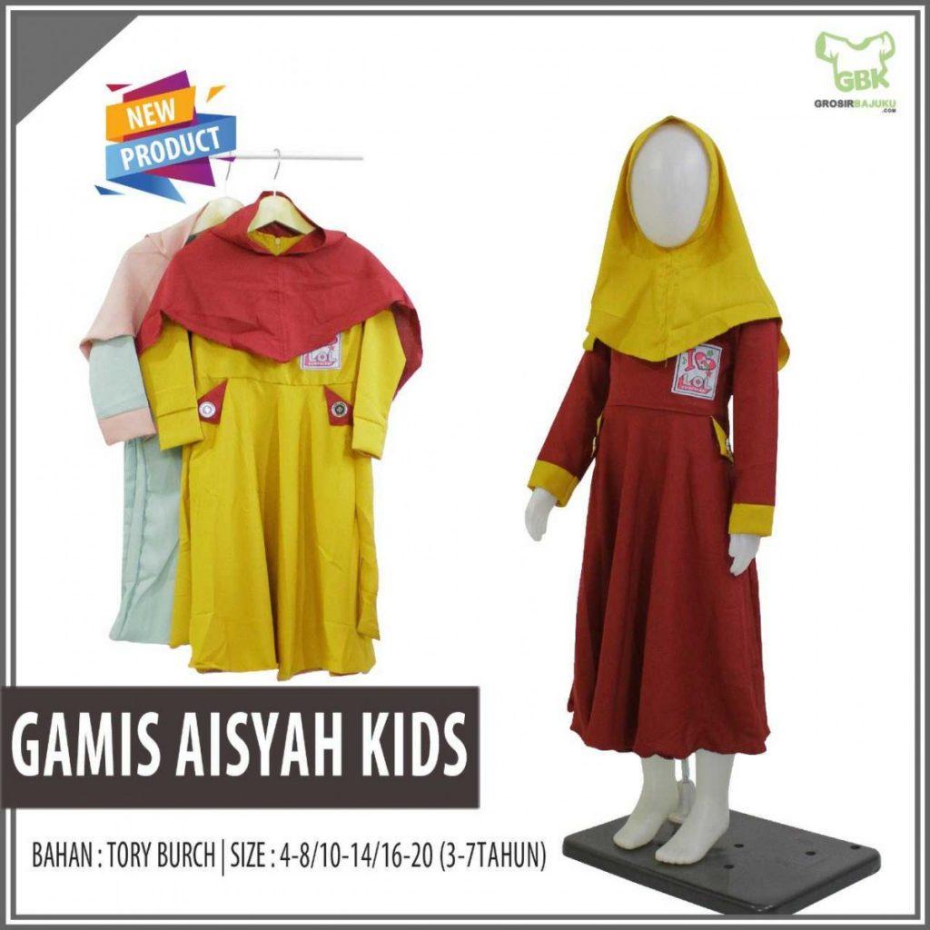 Pusat Grosir Baju Murah Solo Klewer 2019 Konveksi Gamis Aisyah Kids Murah di Solo