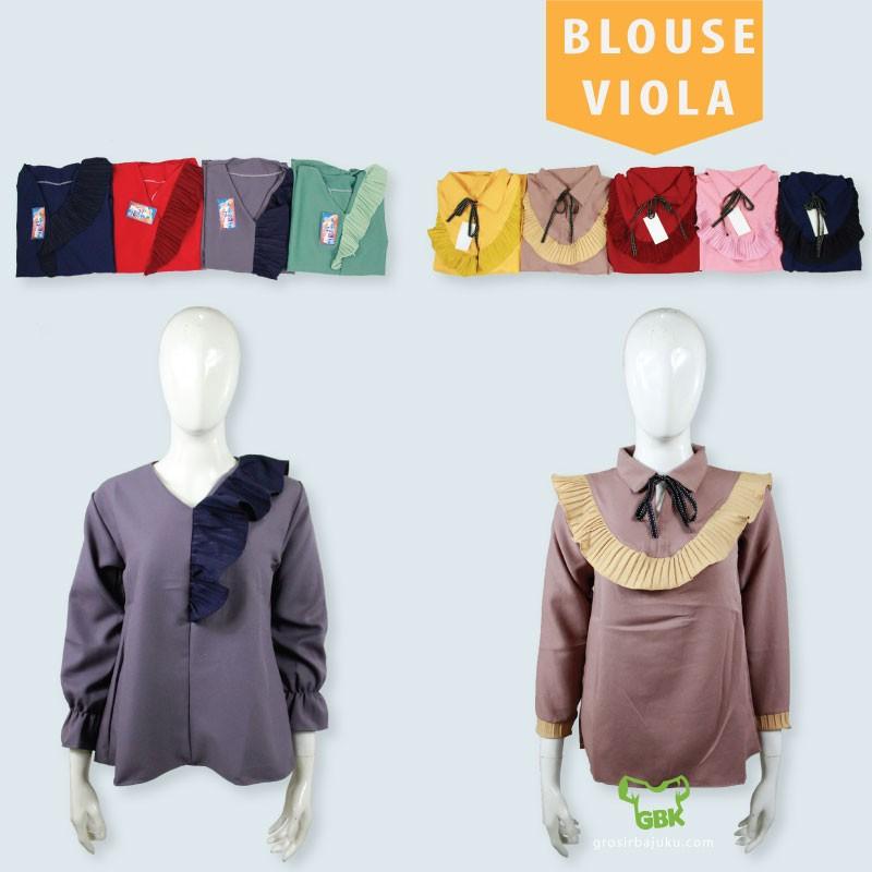 Pusat Grosir Baju Murah Solo Klewer 2019 Bisnis Blouse Viola Dewasa Murah di Solo