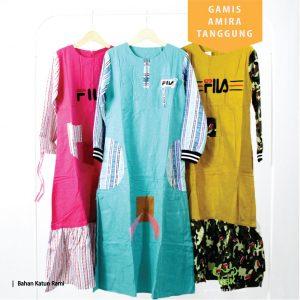 Pusat Grosir Baju Murah Solo Klewer 2019 Gamis Amira Tanggung