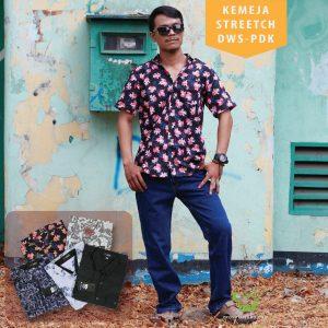 Pusat Grosir Baju Murah Solo Klewer 2019 Kemeja Stretch Dewasa PDK