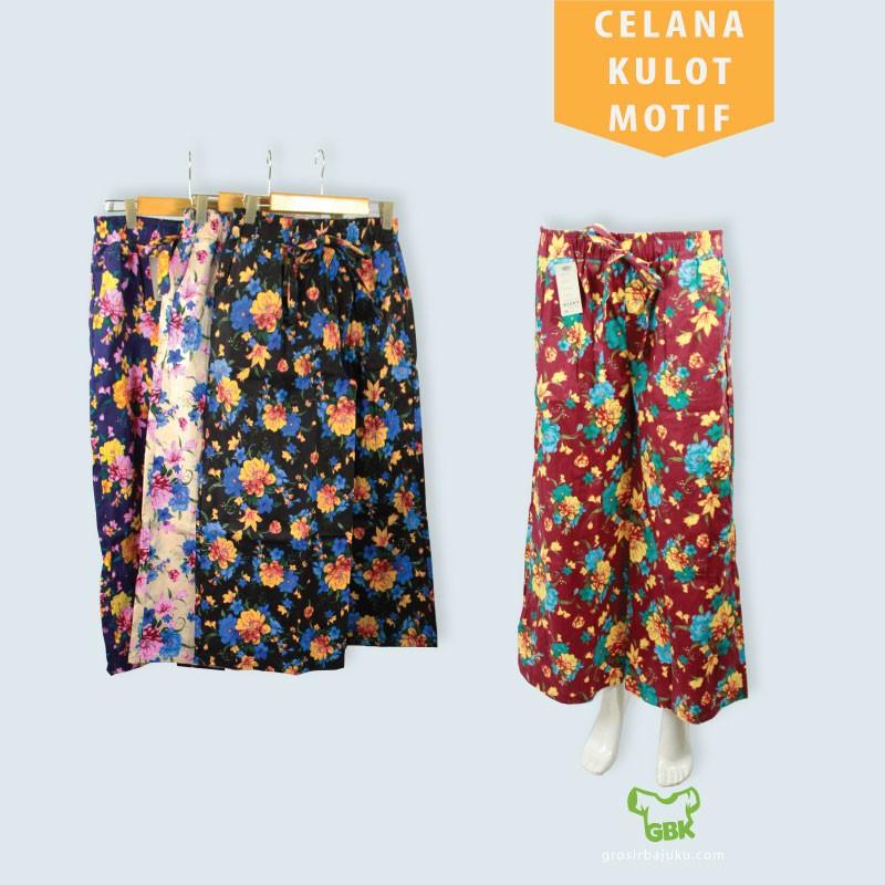 Pusat Grosir Baju Murah Solo Klewer 2021 Agen Celana Kulot Motif Murah di Solo