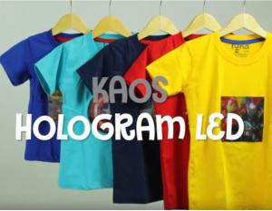 Pusat Grosir Baju Murah Solo Klewer 2019 kaos hologram led