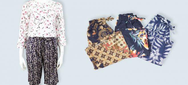 Pusat Grosir Baju Murah Solo Klewer 2019 Distributor Celana Kulot Motif 7/8 Murah di Solo