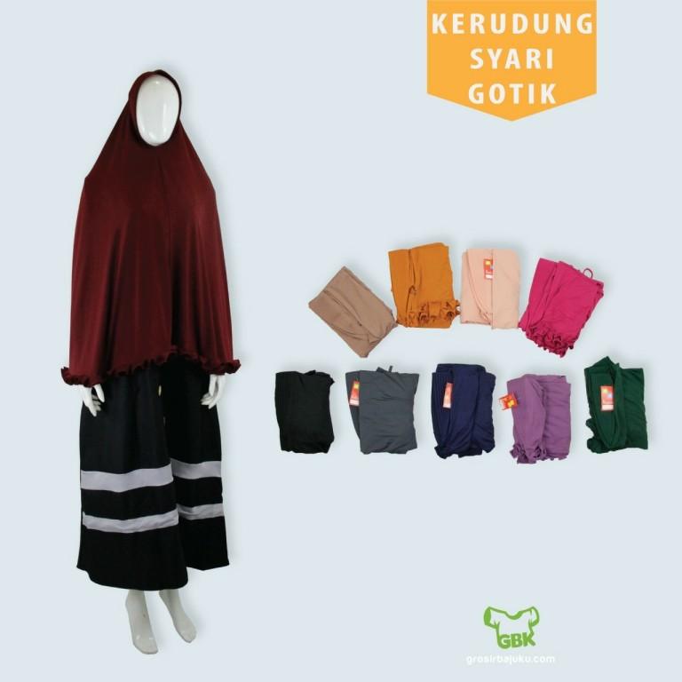 Pusat Grosir Baju Murah Solo Klewer 2019 Distributor Kerudung Syar'i Gotik Murah di Solo
