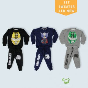 Pusat Grosir Baju Murah Solo Klewer 2019 Set Sweater LED NEW