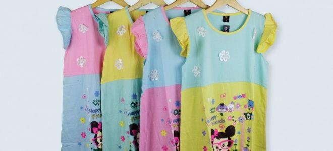 Pusat Grosir Baju Murah Solo Klewer 2021 Konveksi Dress Zahira Anak Termurah di Solo
