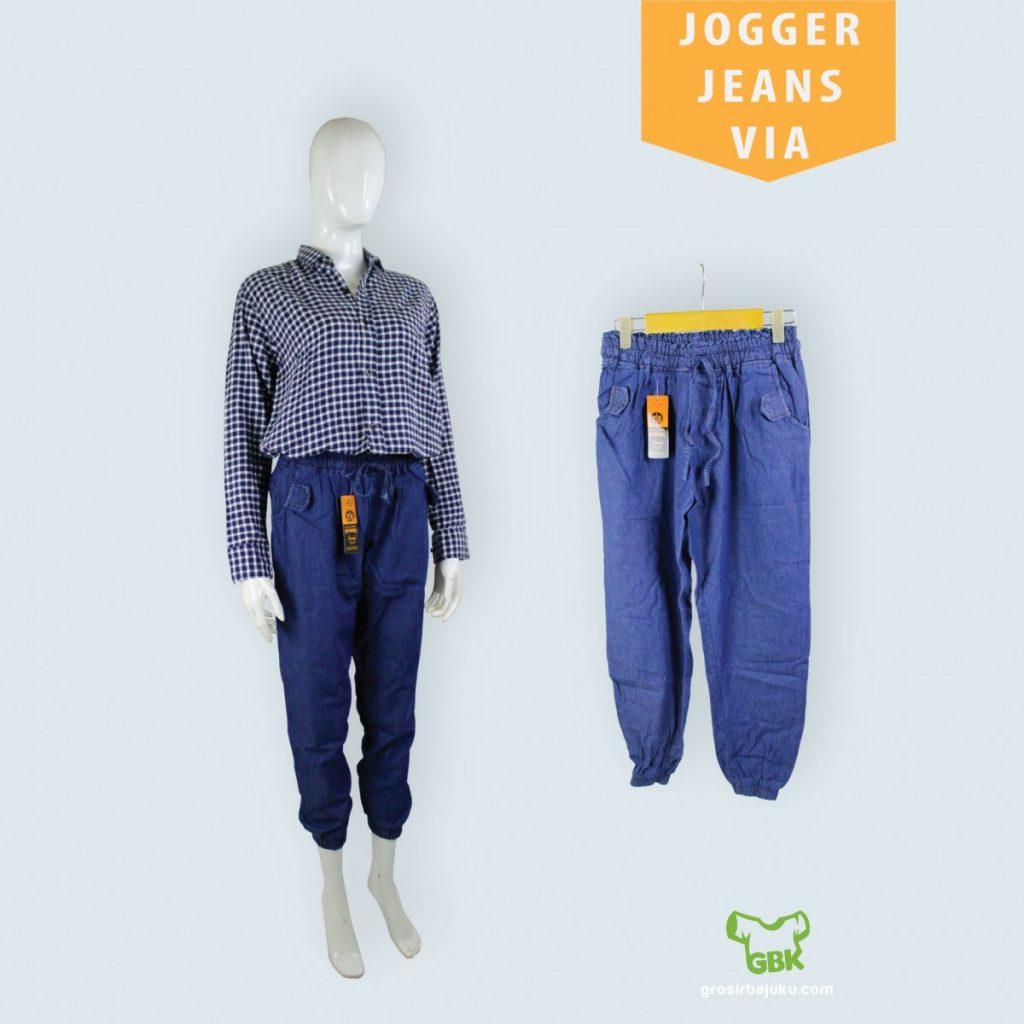 Pusat Grosir Baju Murah Solo Klewer 2019 Distributor Jogger Jeans Via Murah di Solo