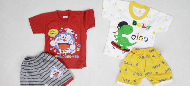 Pusat Grosir Baju Murah Solo Klewer 2021 Konveksi Setelan AL Kids Termurah di Solo
