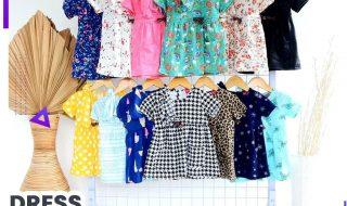 Pusat Grosir Baju Murah Solo Klewer 2021 GROSIR DRESS LOLY KIDS MURAH - 25.000
