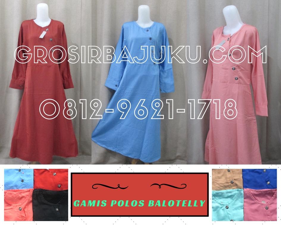 Pusat Grosir Baju Murah Solo Klewer 2019 Supplier Gamis Polos Balotelli Dewasa Termurah di Solo 50Ribu