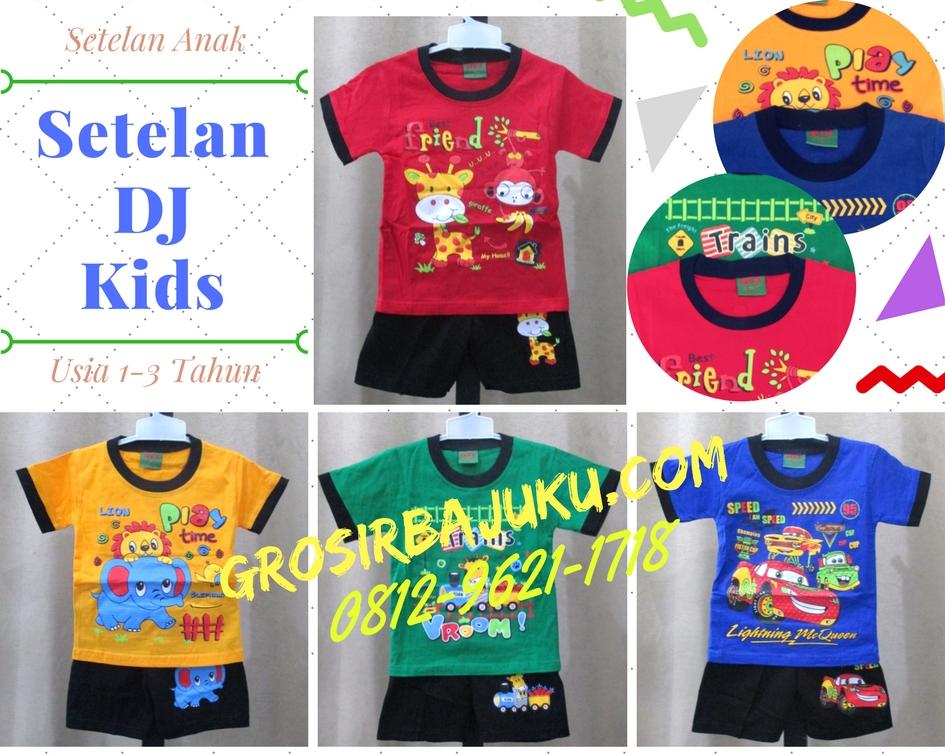 Pusat Grosir Baju Murah Solo Klewer 2019 Supplier Setelan DJ Kids Anak Laki Laki Termurah di Solo Rp.16.500