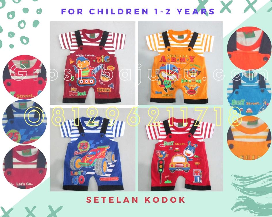 Pusat Grosir Baju Murah Solo Klewer 2018 Supplier Setelan Kodok Anak Laki Laki Murah di Solo Hanya 19Ribu