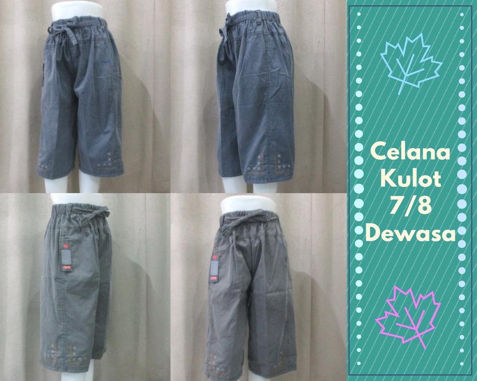 Pusat Grosir Baju Murah Solo Klewer 2019 Produsen Celana Kuloy 7/8 Wanita Dewasa Murah 30Ribu
