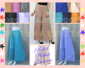 Pusat Grosir Baju Murah Solo Klewer 2021 Supplier Celana Kulot Plisket Wanita Dewasa Murah di Solo