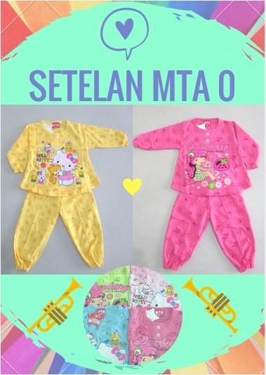 Pusat Grosir Baju Murah Solo Klewer 2018 Agen Setelan MTA 0 Anak Perempuan Karakter Murah Surakarta Rp.17.500