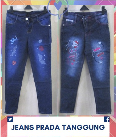 Pusat Grosir Baju Murah Solo Klewer 2018 Supplier Celana Jeans Cewek Tanggung Anak Perempuan Murah 40Ribu