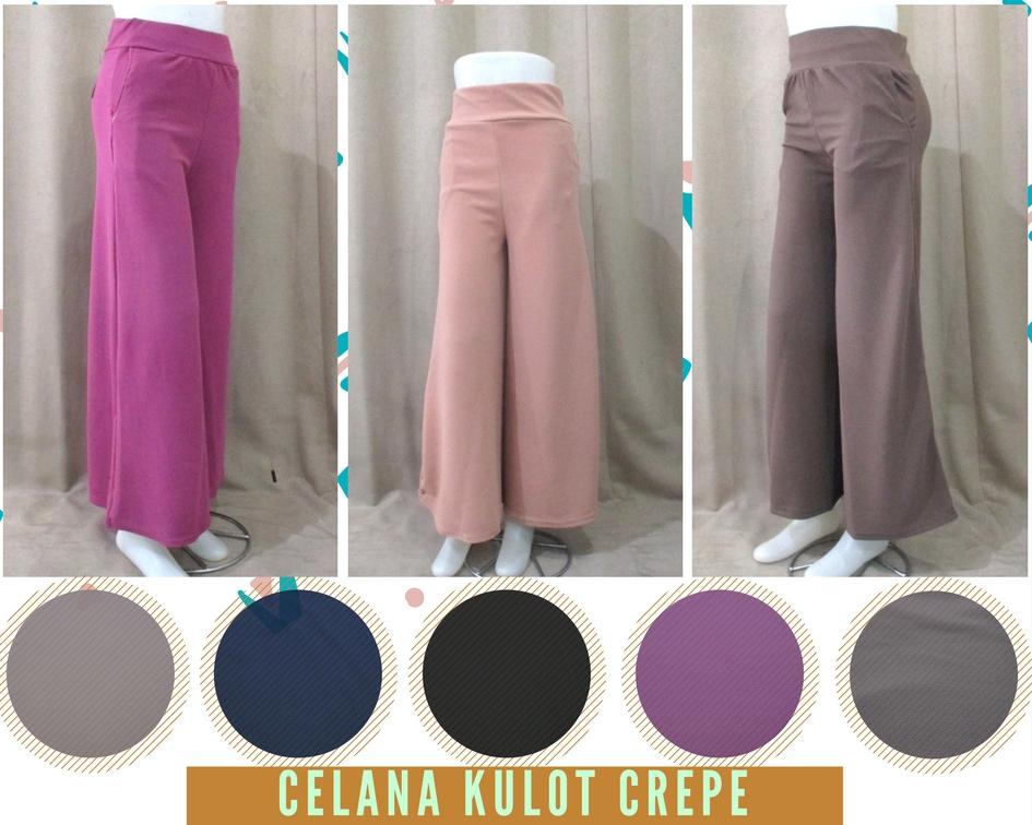 Pusat Grosir Baju Murah Solo Klewer 2019 Supplier Celana Kulot Crepe Wanita Dewasa Murah di Solo 35Ribu
