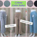 Pusat Grosir Baju Murah Solo Klewer 2018 Produsen Celana Kulot Babat Panjang Dewasa Murah di Solo 32Ribu