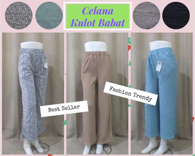 Pusat Grosir Baju Murah Solo Klewer 2019 Produsen Celana Kulot Babat Panjang Dewasa Murah di Solo 32Ribu